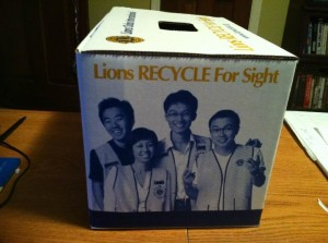 Lions Recycle for Sight Collection Box1