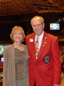 18-A District Governor Alan Bethel and his wife Lion Carole Bethel